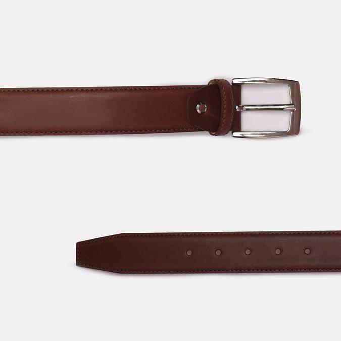 Men's brown leather belt bata, brown , 954-3170 - 26