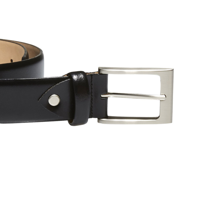 Classical leather belt bata, black , 954-6819 - 26