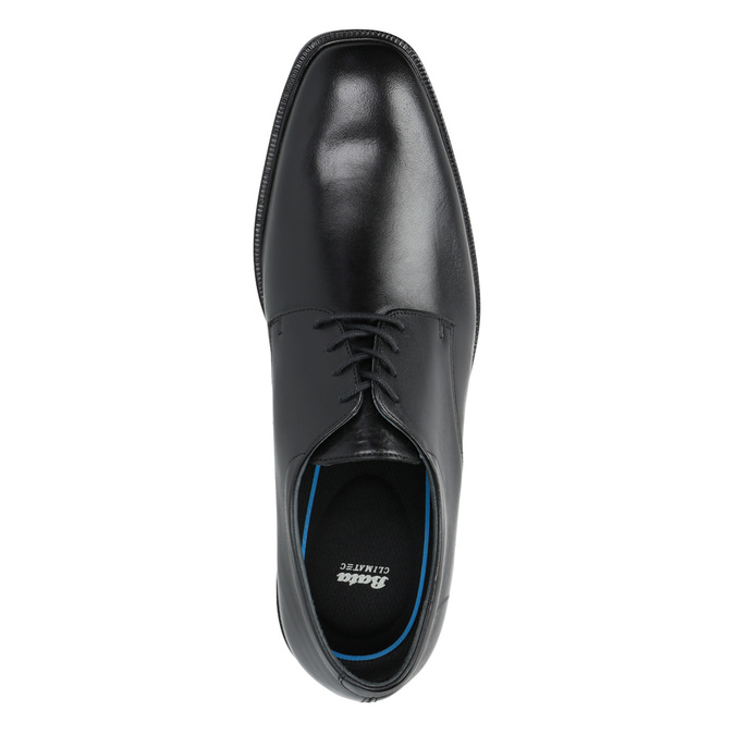 Leather Men's Shoes climatec, black , 824-6130 - 19