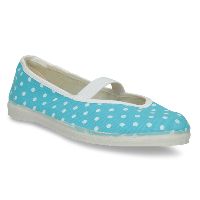 Blue gym shoes with polka dots, blue , 379-9103 - 13