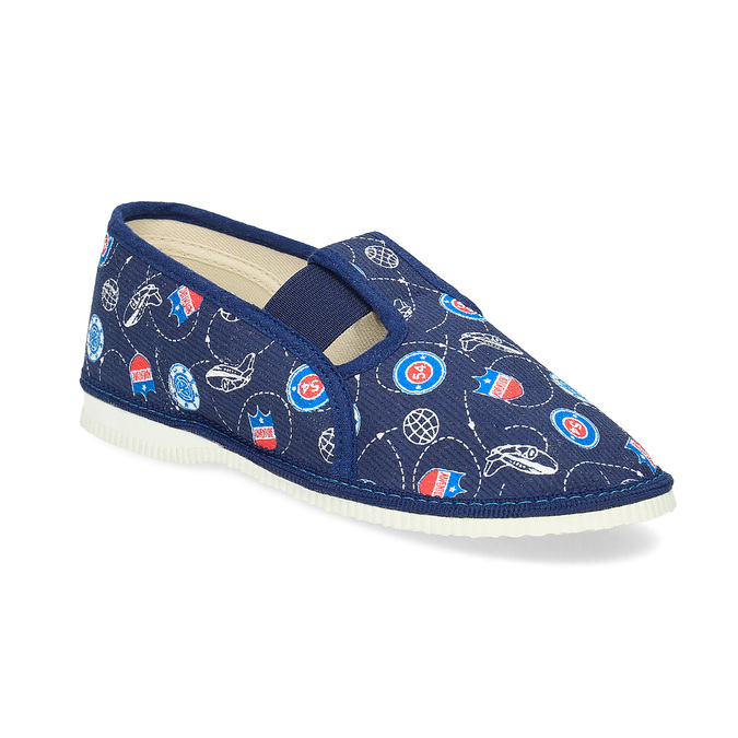 Children's slippers bata, blue , 379-9012 - 13