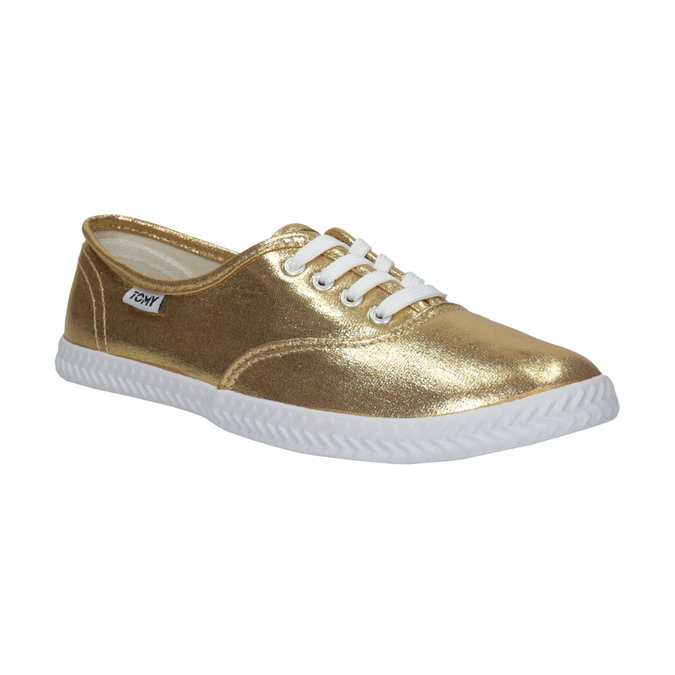 Gold women's sneakers tomy-takkies, gold , 519-8690 - 13