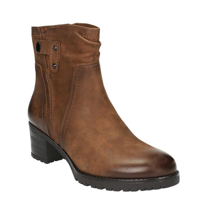 Ladies' ankle shoes bata, brown , 696-4603 - 13