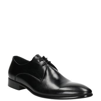 Black Leather Lace-Ups bata, black , 826-6648 - 13