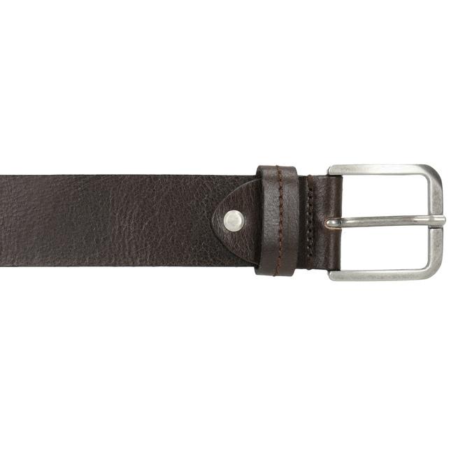 Men's leather belt bata, brown , 954-4106 - 26