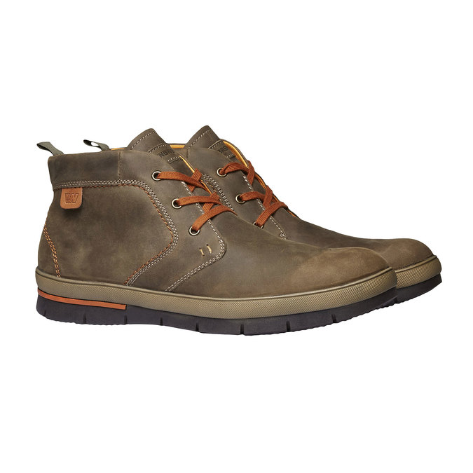 Leather sneakers weinbrenner, brown , 894-2209 - 26