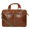Men's brown leather satchel bata, brown , 964-3204 - 26