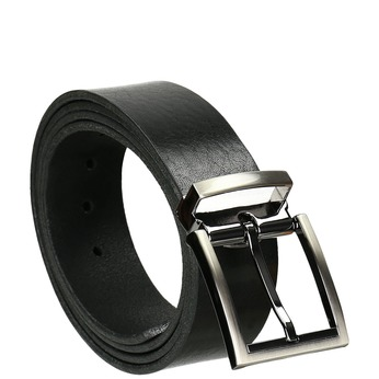 Gentlemen´s leather belt, black , 954-6129 - 13
