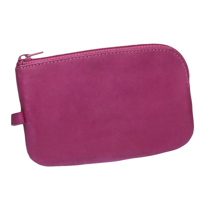 Leather purse bata, pink , 944-5161 - 13