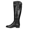 Ladies' leather knee-high boots bata, black , 594-6605 - 19