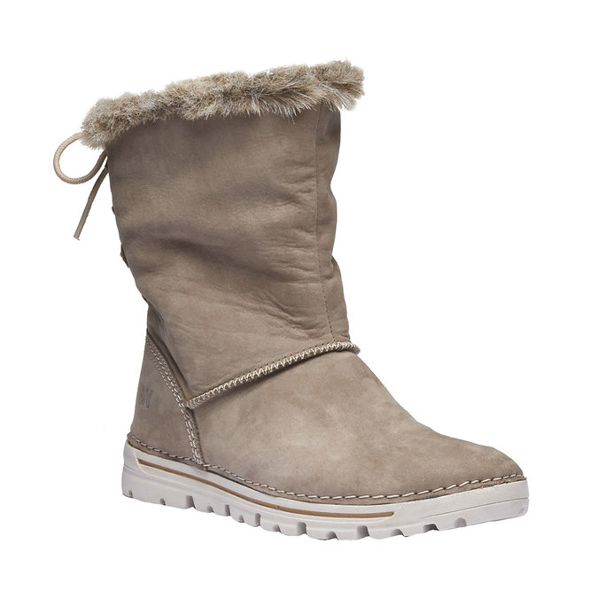 Ladies' winter boots with artificial fur weinbrenner, beige , 596-2334 - 13