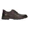 Casual leather shoes on a contrasting sole bata, brown , 824-4698 - 15