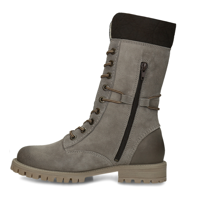 Ladies' lace-up winter boots weinbrenner, gray , 593-2476 - 17