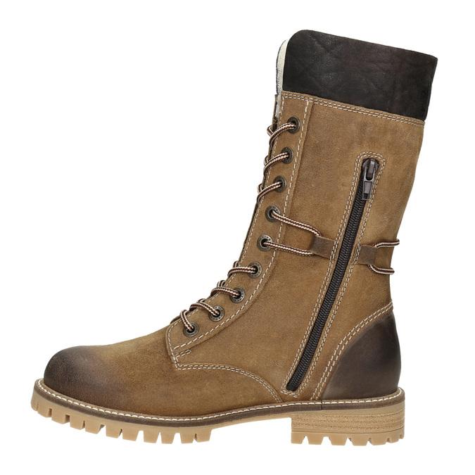 Ladies' winter boots with fur weinbrenner, brown , 593-8476 - 15
