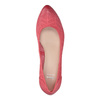 Leather pumps on a platform bata, red , 626-5638 - 19