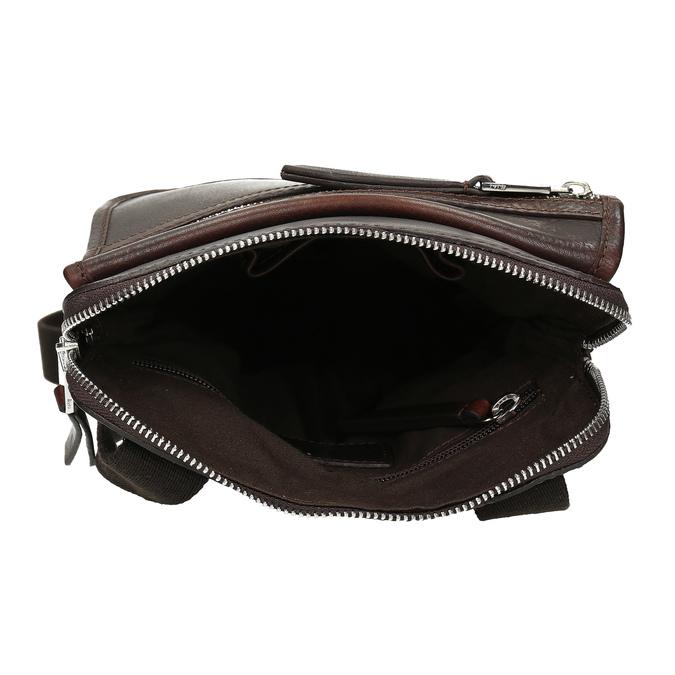 Leather crossbody bag bata, brown , 964-4237 - 15