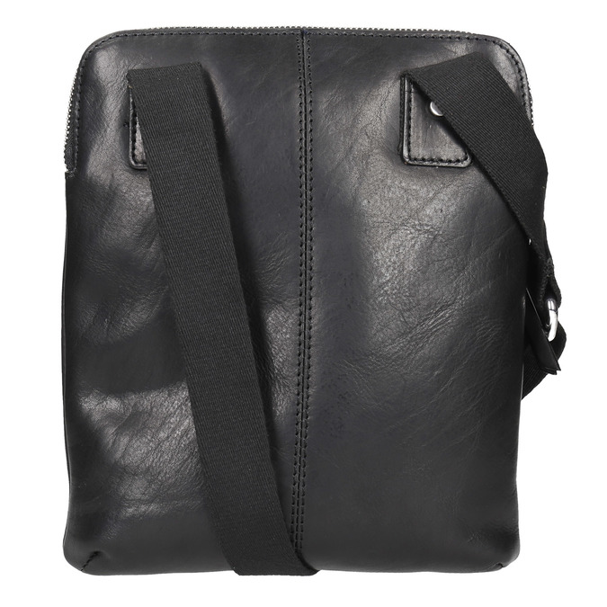 Men's leather crossbody bag, black , 964-6237 - 26