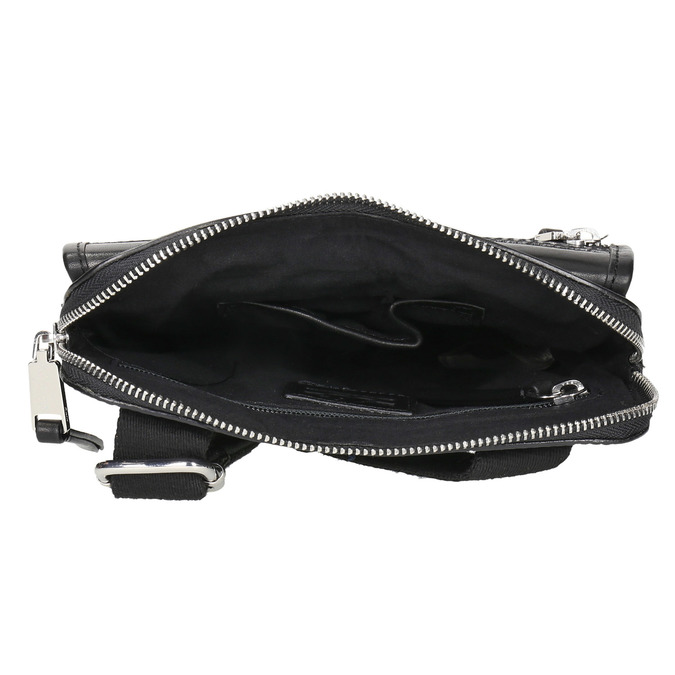 Men's leather crossbody bag, black , 964-6237 - 15