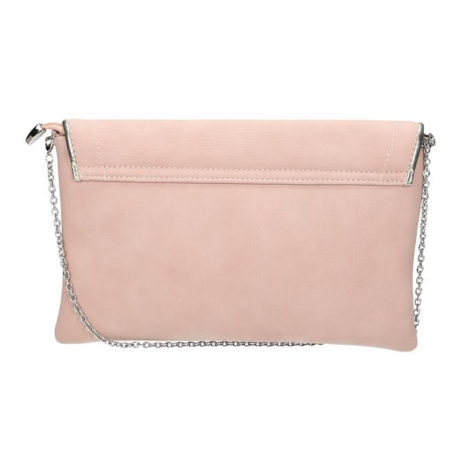 Pink clutch bata, pink , 961-5708 - 19