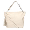 Handbag with tassels, beige , 961-8703 - 19