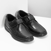 Men's leather shoes with Velcro pinosos, black , 824-6543 - 26