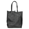 Leather handbag v Shopper style, black , 964-6122 - 16