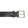 Black leather belt bata, black , 954-6192 - 26