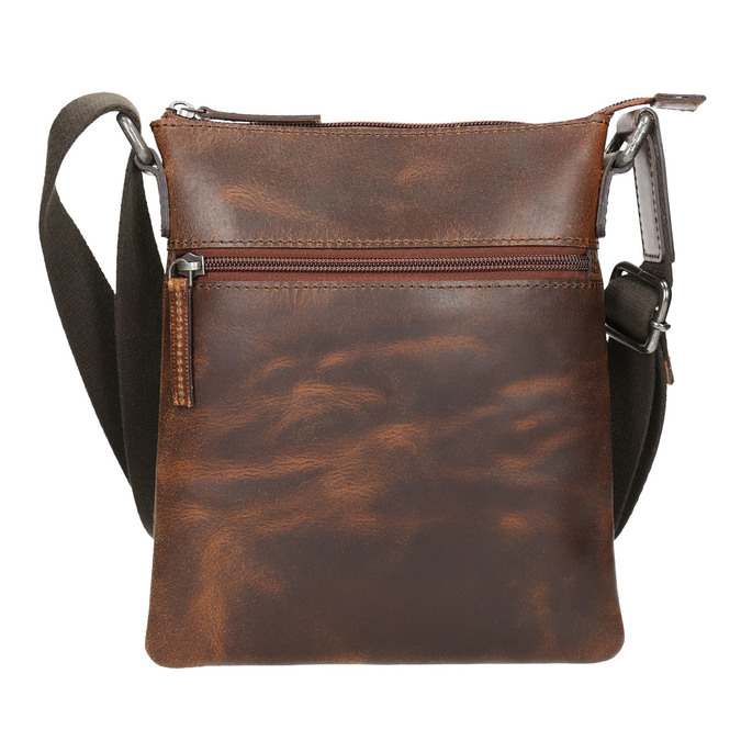 Men's leather crossbody bag, brown , 964-4140 - 17