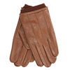 Brown leather gloves, brown , 904-3117 - 13
