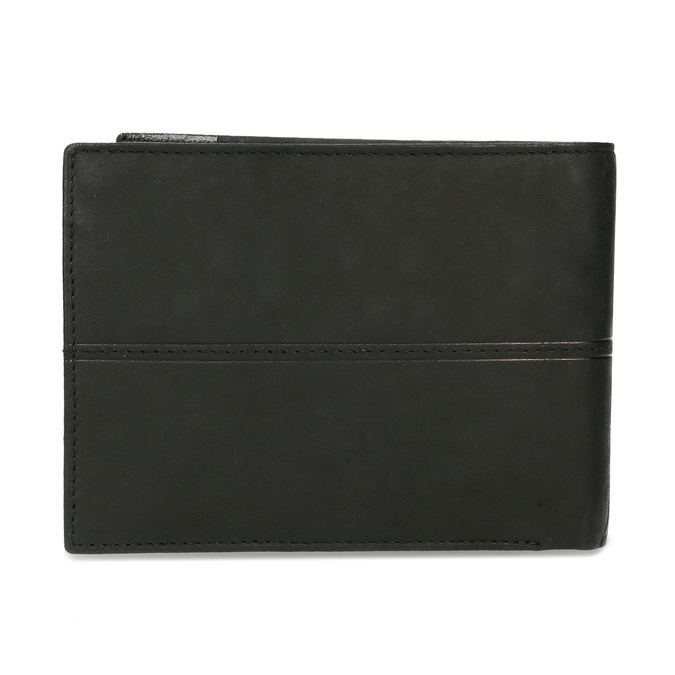 Men's leather wallet bata, black , 944-6188 - 16