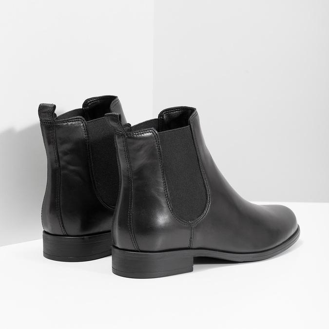 Ladies' Leather Chelsea Boots bata, black , 594-6661 - 16