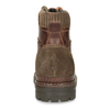 Leather Winter Ankle Boots bata, brown , 896-4661 - 15