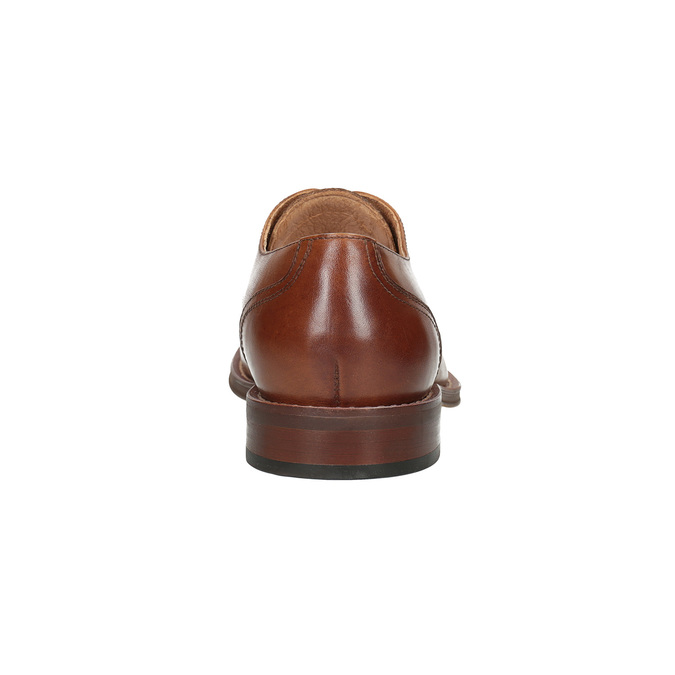 Brown leather Derby-style shoes bata, brown , 826-3812 - 15