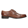 Men's dress shoes with stitching, brown , 826-4995 - 26