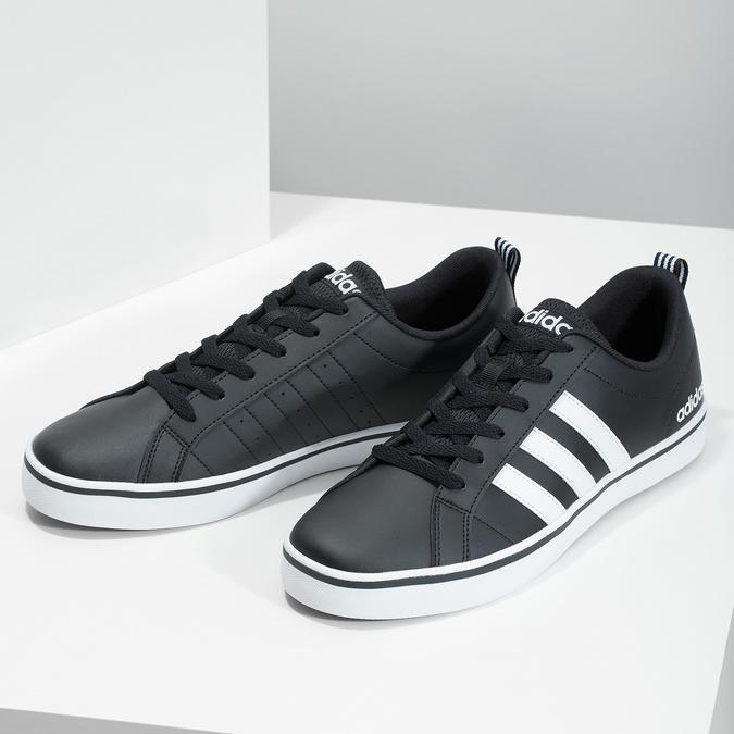 Men's casual sneakers adidas, black , 801-6136 - 16