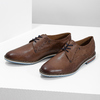 Brown leather shoes with striped sole bata, brown , 826-4790 - 16