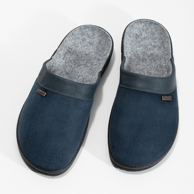 Men's slippers bata, blue , 879-9600 - 16
