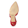 Leather pumps with T-strap, red , 724-5904 - 18